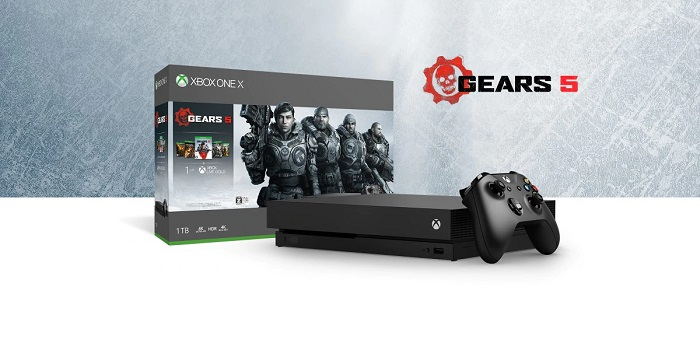 Xbox One X 1 TB 本体 – Gears 5 バンドル
