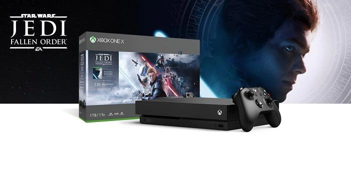 Xbox One X 1TB 本体 – Star Wars ジェダイ:フォールン・オーダー バンドル